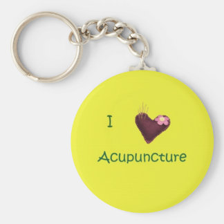 I Love Acupuncture Keychain