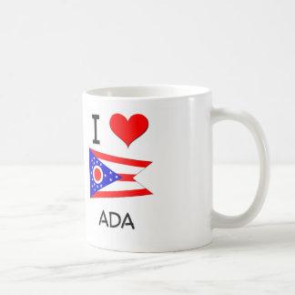 I Love Ada Ohio Basic White Mug