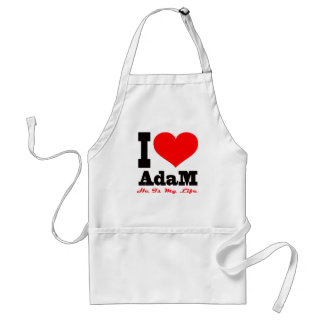 I Love Adam He Is My Life Apron