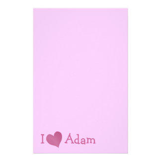 I Love Adam Stationery
