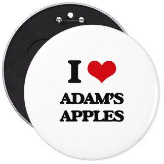 I Love Adam'S Apples 6 Cm Round Badge
