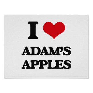 I Love Adam'S Apples Print
