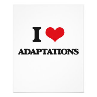 I Love Adaptations Flyer Design