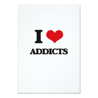 I Love Addicts Personalized Invitation Card