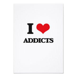 I Love Addicts Customized Announcement Cards