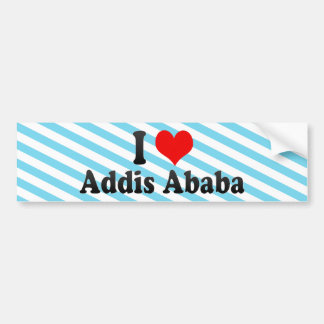 I Love Addis Ababa, Ethiopia Bumper Sticker