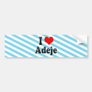 I Love Adeje, Spain Bumper Sticker