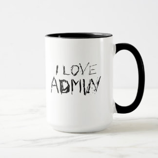 I love admin - urban, edgy office work mug