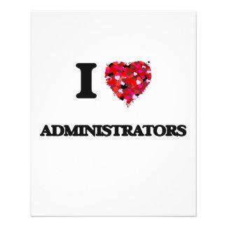 I love Administrators 11.5 Cm X 14 Cm Flyer