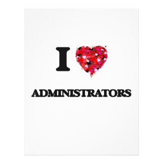 I love Administrators 21.5 Cm X 28 Cm Flyer