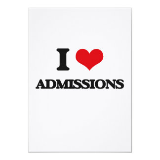 I Love Admissions Invitation Card