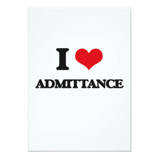 I Love Admittance Announcement Card