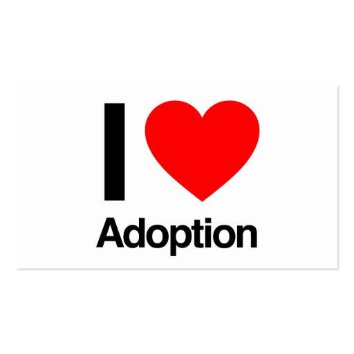 i love adoption business card