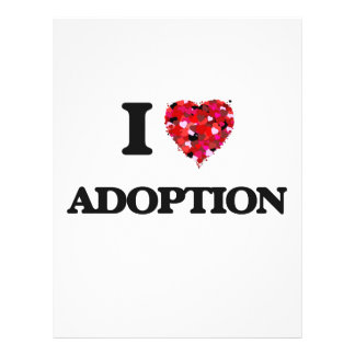 I Love Adoption 21.5 Cm X 28 Cm Flyer
