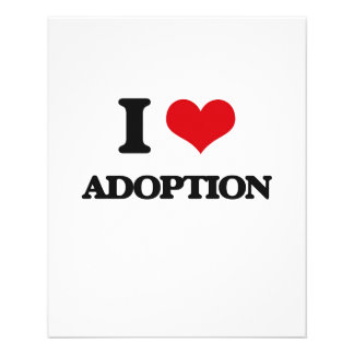 I Love Adoption Personalized Flyer