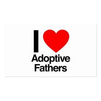i love adoptive fathers business card