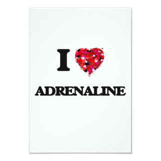 I Love Adrenaline 9 Cm X 13 Cm Invitation Card