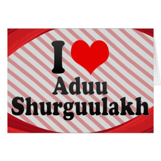 I love Aduu Shurguulakh Note Card