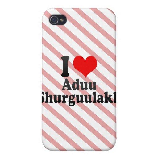 I love Aduu Shurguulakh iPhone 4 Covers