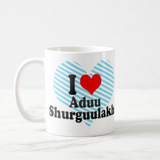 I love Aduu Shurguulakh Basic White Mug