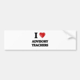I love Advisory Teachers (Heart made from words) Bumper Sticker
