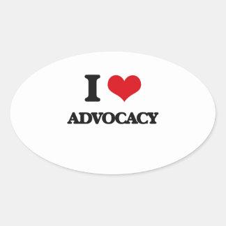 I Love Advocacy Stickers