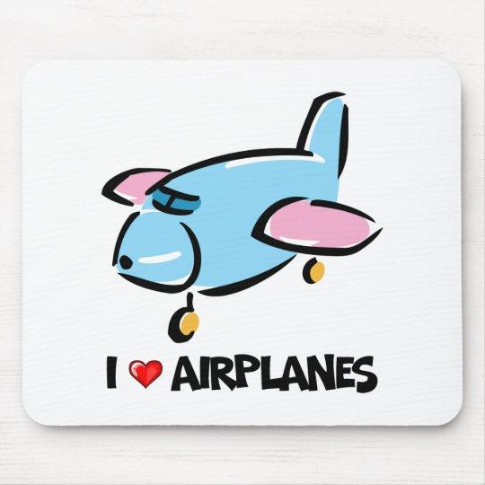 I Love Aeroplanes Mouse Mat