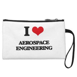 I Love Aerospace Engineering Wristlet Purse