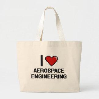 I Love Aerospace Engineering Digital Design Jumbo Tote Bag