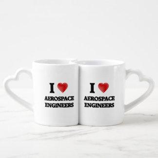 I love Aerospace Engineers (Heart made from words) Lovers Mug