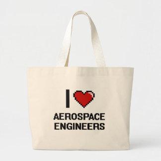 I love Aerospace Engineers Jumbo Tote Bag