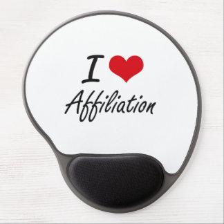 I Love Affiliation Artistic Design Gel Mouse Pad