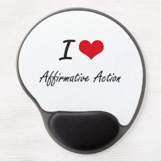 I Love Affirmative Action Artistic Design Gel Mouse Pad