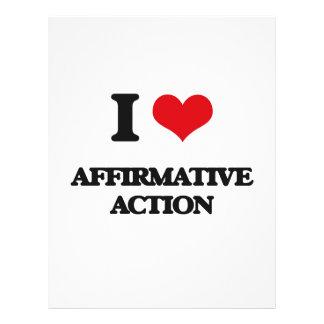 I Love Affirmative Action 21.5 Cm X 28 Cm Flyer