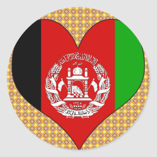 I Love Afghanistan Classic Round Sticker