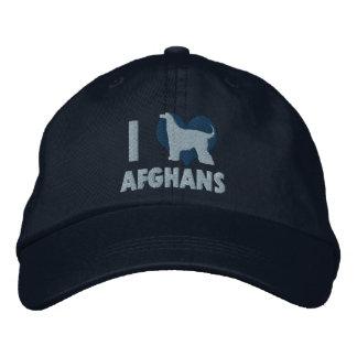 I Love Afghans Blue Embroidered Hat Embroidered Hat