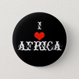 I love africa 6 cm round badge