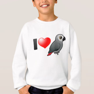 I Love Africa Greys Sweatshirt