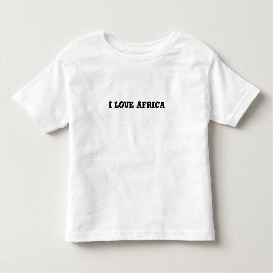 I love Africa toddler t-shirt