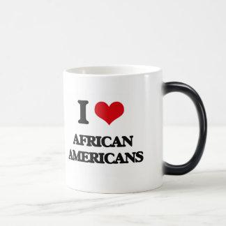 I Love African-Americans Coffee Mugs