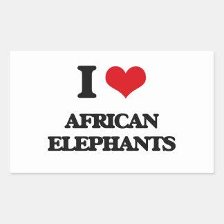 I love African Elephants Stickers