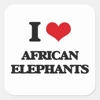 I love African Elephants Sticker