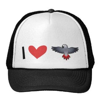 I Love African Greys / Amazons / Parrots Cap