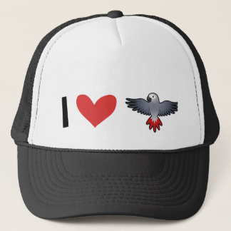 I Love African Greys / Amazons / Parrots Trucker Hat