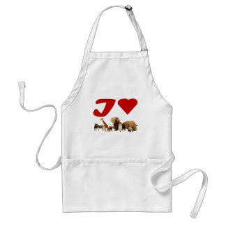 I love African Wildlife Collage VI Standard Apron