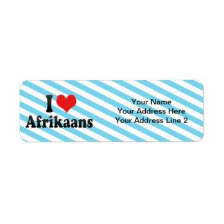 I Love Afrikaans Return Address Label