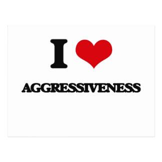 I Love Aggressiveness Postcards
