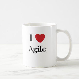 I Love Agile Heart Me Mug Project Manager Quote