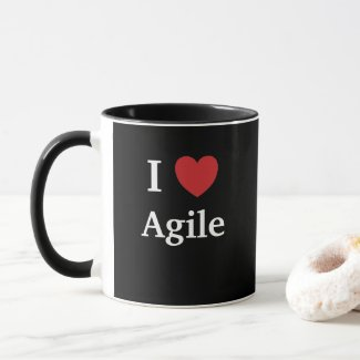 I Love Agile Quote Mug Project Manager Gift Idea