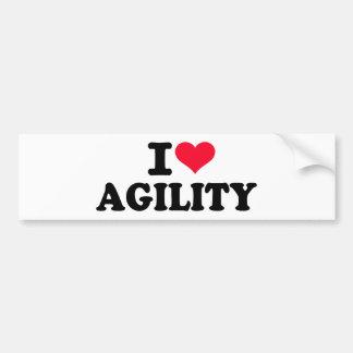 I love agility bumper sticker